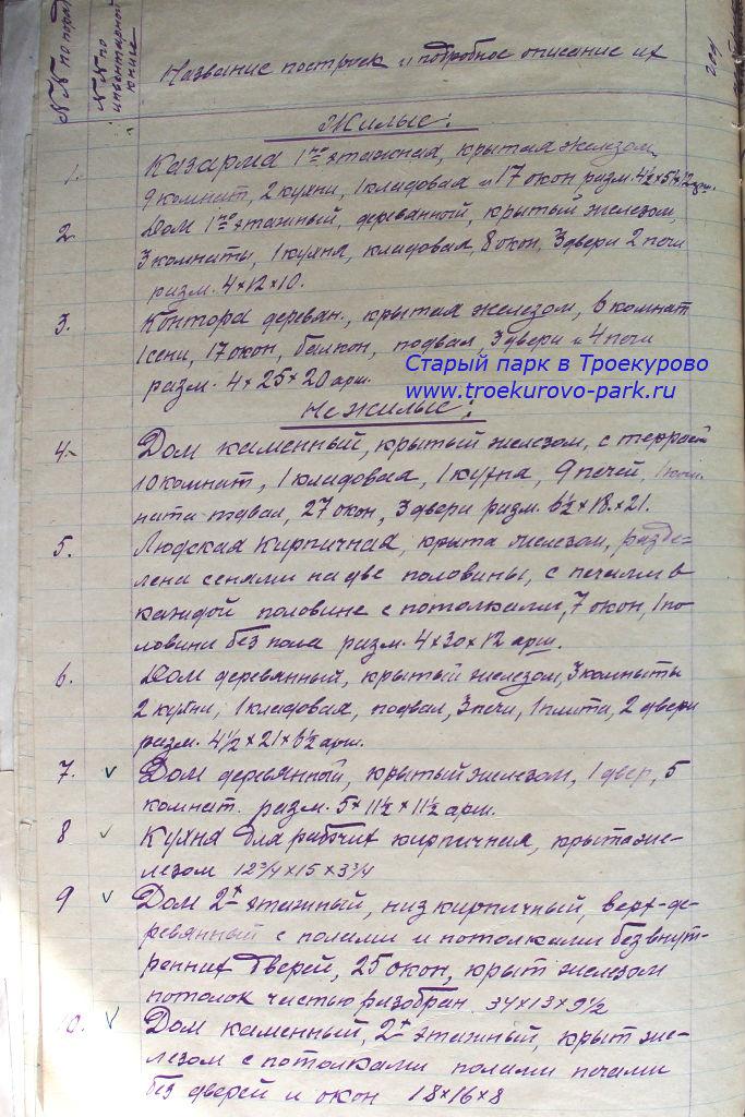 Дело о национализации усадьбы в Троекурово
