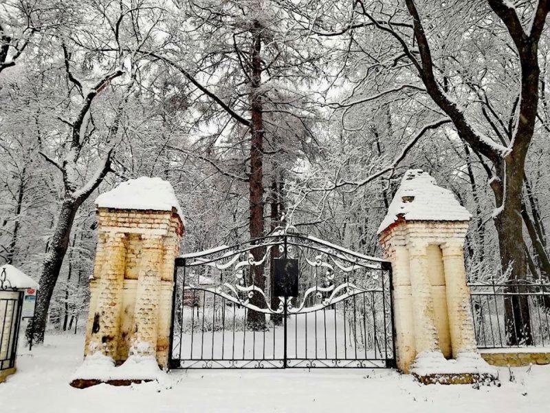 В старый парк в Троекурово пришла зима